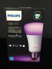 Philips Hue White and Color Ambiance A19 Single Bulb - Gen 3 with Richer Colors