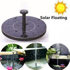 Outdoor Solar Bird Bath Fountain Powered Water Pump Floating Pond Garden Decor
