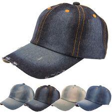 Moda Uomo Donna Jean Sport cappello Denim Casual Baseball Cap Capellino da  sole fe24d698a2e3