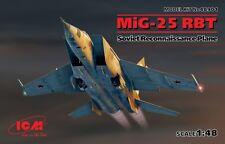 MiG-25 RBT FOXBAT B 3-MACH RECCE PLANE (SOVIET AF MARKINGS) 1/48 ICM BRAND NEW