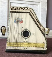More details for antique 'the oxford academy of music' royal piano harp zither saxony c1900's