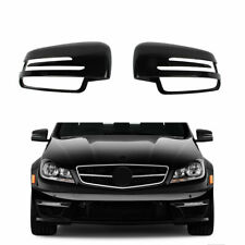 Black Side Wing Mirror Cover Fit For BENZ S C B GL-Class W204 W212 GLA CLA