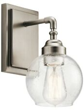 Kichler 45590AP Niles Wall Sconce, 1 Light, 100 Watt, Antique Pewter