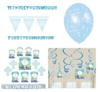 1st/FIRST COMMUNION Blue/Boy PARTY DECORATIONS {Amscan}(Banner, Balloon, Swirl)