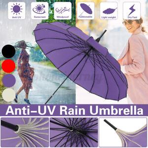Vintage Pagoda Parasol Sun/Rain Proof Umbrella Wedding Bride Ornament 4 Colors