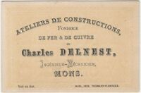 1880s Belgian Iron & Copper Foundry Trade Card - Millwork Industrial Metalwork