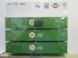 ATHEARN 26636 HO  HUB GROUP 53' CIMC CONTAINER 3 PACK