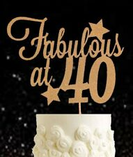 Gold 40 & fabulous forty glitter cake topper birthday fortieth 40s party 40th