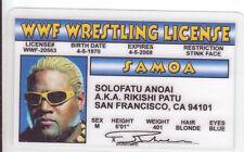 Solofatu Anoai Rikishi Patu wrestling novelty collectors card Drivers License