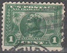 USA Scott #  401  1 Cent Balboa  Perf 10 Green Used (401-2)