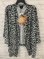 Serena Williams Signature Statement Womens Large NWT Cheetah Print Cardigan