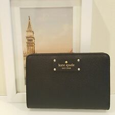 Kate Spade New York Wellesley Tellie Leather Wallet Black $119