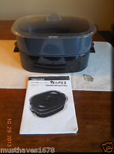 Tupperware BLACK  Cosmo OVAL Microcooker Microwave STACK cooker RARE COLOR