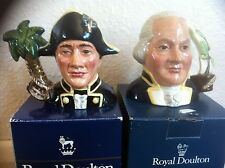 "Royal Doulton ""CAPTAIN BLIGH & FLETCHER CHRISTIAN"" Boxed Character Jugs D7074&75"