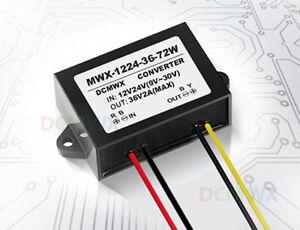 NEW Voltage Booster Power DC Converter Regulator 12V/24V Step up to 36V 2A 72W