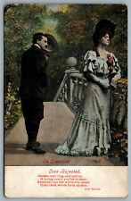 Postcard c1907 In Loveland - Love Rejected Old Ballad