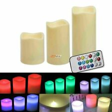LED Light Candle Flameless Flickering Battery Operated Wedding Remote Control S1