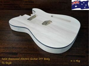 4/4 Haze Solid Basswood Electric Guitar Body, Pre-Polished/Drilled HSTL19100BO