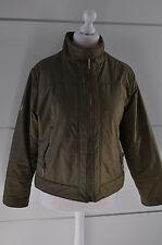 Verde Oliva Mujer Abrigo Chaqueta, tamaño L (12), Perfecto Estado