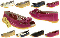 Womens Leather COOLERS PREMIER Ballerinas Flats Summer Sandals Sizes 4 5 6 7 8