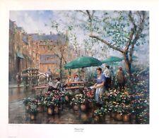 """Donny Finley """"Flower Cart""""  LTD ED  S/N   274/2750  large fine art print  1995"""