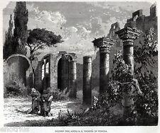 VENOSA: La Santissima Trinità. Potenza. Lucania. Basilicata. Stampa Antica. 1876