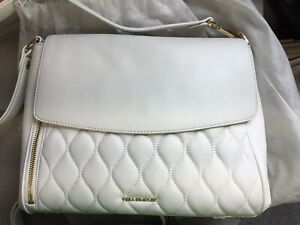 Vera Bradley ~ Cara Convertible Crossbody ~ New ~ White Sycamore Leather