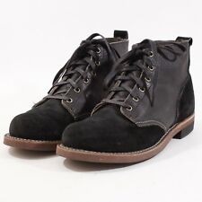 Broken Homme Robert Monkey Boots Leather/Suede - 10 D - Black