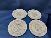 Vintage 1992 Newcor COUNTRY CHARM Stoneware Set/4 Dessert/Salad Plates Retired