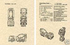 Transformers MIXMASTER Patent Art Print READY TO FRAME!! G1 Devastator Nissan