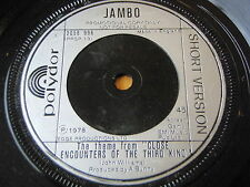 "JAMBO - THEME FROM CLOSE ENCOUNTERS OF THE THIRD KIND  7"" VINYL PROMO"