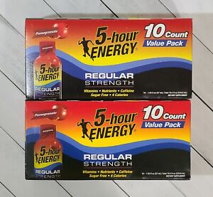 (2x) 5-hour ENERGY Regular Strength Pomegranate 20 Energy Shots Total Exp 07/21