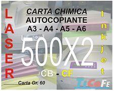 Carta CHIMICA autocopiante A4 500x2 * CB CF * carbone ddt ricevute stampa