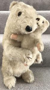 Rare Vintage Dean's Rag Book Ivy & Brumas Polar Bear Teddy Bears W/ Labels 1949