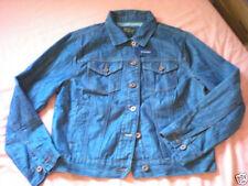 Denim Hip Length Plus Size Button Coats & Jackets for Women