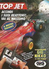 X1506 Top Jet il mostro ruggente - Gig Nikko - Pubblicità del 1991 - Vintage ad