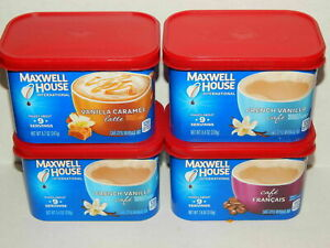Maxwell House International Coffee Combo Pack Double French Vanilla + Cafe