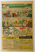 1951 Bobby SHELBY bicycle ad page ~ THE CHRISTMAS PARTY ~ Santa