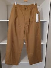 Uniqlo U Relaxed Wide Fit Trousers Beige - Medium