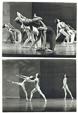 """Stuttgartgarter Ballett """"Die Fenster"""" 2 Orig. Photos Signed Lesue e Spat 1960's"""
