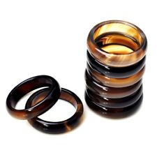 Elegant Wholesale Lots Mixed Colorful Natural Agate Gemstone Ring Band Rings Hot