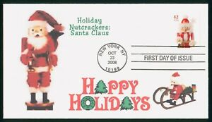 MayfairStamps US FDC Unsealed 2008 Nutcrackers Santa Claus Christmas First Day C