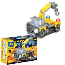 Toy #8046 Educational Bricks Block Mini DIY Building Blocks City Build Crane
