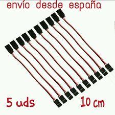 Cable extension servo 10cm, conector jr futaba, macho a hembra (5 unidades)