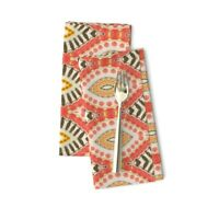 Tribal Batik Hippie Red Green Retro Cotton Dinner Napkins by Roostery Set of 2