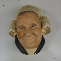 VINTAGE BOSSONS BRETONNE LADY CHALKWARE CHARACTER HEAD MADE IN ENGLAND 1982