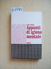 L. FRIGHI - APPUNTI DI IGIENE MENTALE - RIZZOLI - 1971
