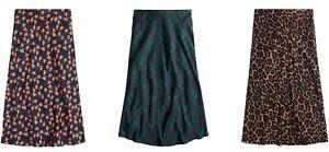 J.Crew Pull-On Slip Skirt Womens Elastic Waistband Lightweight Polyester Unlined