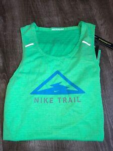 Nike Mens Air Trail Rise 365 Breathe Running Tank Top Dri-fit CT7370-328 X-Small