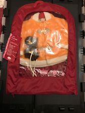 "American Girl And Gotz Doll ~ Orange Fleece Coat W/ Mits Fit 18"" doll Brand New!"